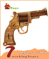 Wholesale big discount educational toy bamboo wooden gun d jigsaw puzzle for adults