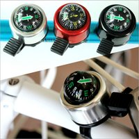 metal compass - 50pcs Aluminium Alloy Bicycle Bell Compass Metal Bike Compass Ring Bell Horn Bicycle Bell Ring Colorful Cycling Bike Bells Compass
