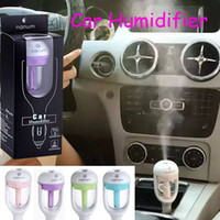 usb aroma humidifier - Nanum Car Plug Air Humidifier Purifier Vehicular essential oil ultrasonic humidifier Aroma mist car fragrance Diffuser DHL