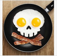 silicone cooking - 100 BBA4924 Cooked Fried egg Skull owl shaper silicone moulds egg ring silicone mold cooking tools christmas supplies Fried Egg Mold Pancake