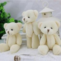 Wholesale Promotion factory CM jointed mini teddy bear small teddy bear keychain cartoon bouquet toy wedding gifts