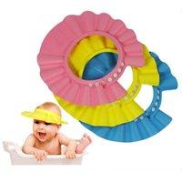 bath accessories sale - Hot Sale Baby Shampoo Caps Infant Shampoo Cap Child Shower Hat Candy Color Kid Shampoo Bath Headwear Adjustable Baby Accessories