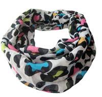 Enfants Coloré Impression Leopard Écharpes Infinity Automne Hiver chaud Voile Cercle Loop Écharpe Enfants Mode Filles Accessoires K1091