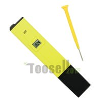 Wholesale Piece Digital PH Meter Tester Pocket Pen Aquarium Pool Water swimming pool Screwdriver