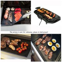 barbecue cooking grill - BBQ Grill Liner Mat Resuable Barbecue Sheet Pad Heat Resistance Grill Mat Sheet Microwave Oven Use Cooking Sheet BBQ Grill Mat LJJE