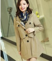 Wholesale Brand New Fashion Autumn and Winter Women Trench High Quality Full Sleeve Temperament Thin Women Trench Coat