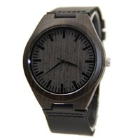 auto stripes - Attractive Luxury Black Leather Stripe Hot sale Wooden Analog Quatz Wrist Watches Dropshipping SP4