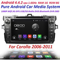 Android car audio dvd - 2 din Pure Android Car DVD Player For Toyota corolla with WIFI G USB Capacitive screen Car radio Audio car stereo