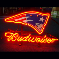 beer england - neon sign FOR ENGLAND PATRIOT BUDWEISER store display beer bar signs Real Glass tube light handicraft