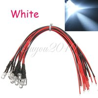 Wholesale Pre Wired Ultra Bright White mm LED Set Light Lamp Bulb cm Prewired For DC V