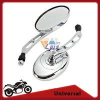 atvs kawasaki - Aluminum ABS Chrome Oval Shape mm thread Motorcycle Chopper Rearview Side Mirror for Kawasaki Motorcycle Scooters ATVs order lt no track