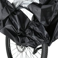 Wholesale NEW cm Waterproof Dust and Rain Motorcycle and Bicycle Cover Protector Silver Size M