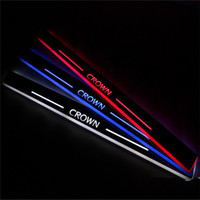 Wholesale LED Pedals Led moving door scuff door sill plate car styling illuminated modified special welcome pedal for Toyota Crown