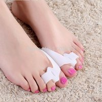 Wholesale 1000Pairs Silicone Gel foot fingers Two Hole Toe Separator Thumb Valgus Protector Bunion adjuster Hallux Valgus Guard feet care