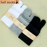 animal print clogs for women - Outside the single bamboo fiber finger Japanese tabi socks in tube socks toe socks for men and women to wear clogs