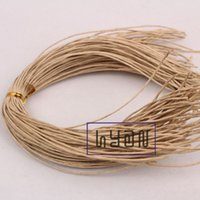 Wholesale Brown Kraft Paper Hang Tag Strings Gift Garment Hangtag Cords cm mm