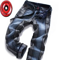 Wholesale New Fashion Men s Rock Revival Straight jeans Two color Joining together Men jeans
