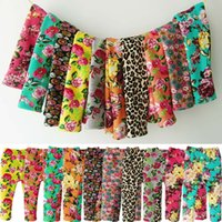 baby warp - Baby Girls Winter Pants Cotton Warm Baby leggings Flower Leopard PP Pants Warp knitted Velvet Casual Trousers