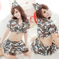 camouflage lingerie - sexy lingerie uniforms temptation policewoman game passion female instructors role playing camouflage suit NJ003