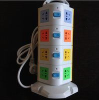 Wholesale Ultra thin Tower Model Smart USB Socket with Outlets V USB V A Extension Plug Overload Protection Power Strip