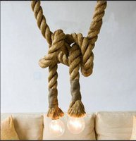 bedroom decorating crafts - Hemp rope chandelier Clothing store is decorated droplight m E27 droplight DIY manual craft droplight with classical creative personality