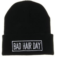 cotton wool roll - 2014 Winter Beanie Bad Hair Day UNISEX Roll up Hem Hats Touca Sport Women Skullies Casual Caps Cotton Wool Knitted Hat For Men