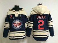 Wholesale Twins Baseball Sweater Brain Dozier Lace Up Pullover Hooded Sweatshirt Cheap Minnesota Baseball Hoodies Men s Winter Outdoor Apparel