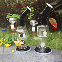 ash black - Newest Black Glass Bongs water pipes rigs Smoking Pipe Honeycomb Ash Catcher honeycomb perc bong Glass Water Pipes Recycler Oil Rigs