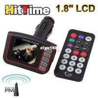 Wholesale quot LCD Car MP3 MP4 Player Wireless FM Transmitter USB SD Slot w Remote Control