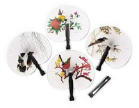 Wholesale Hioliday Sale Event Party Supplies Paper Hand Fan Wedding Decoration