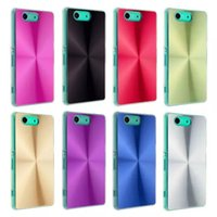 cd covers - Luxury CD Pattern Brushed Brush Aluminium Metal Hard Back Phone Case Cover For Sony Xperia Z3 Compact Z3 mini M55W
