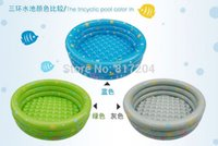 Wholesale cm trinuclear inflatable child swimming pool baby swimming pool Small bathtub ocean ball