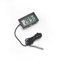 aquarium lcd thermometer - Professinal Mini Digital LCD Probe Aquarium Fridge Freezer Thermometer Thermograph Temperature for Refrigerator Degree FY