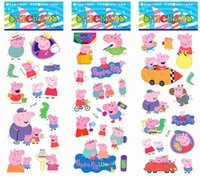 Wholesale Cheaper Pig Stickers PVC Puffy Stickers D Cartoon Craft Sticker Children Dimensional Cartoon Bubble Stickers Gifts For Girls