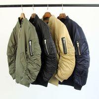 army jacket trend - Fall citi trends coats hot mens designer black khaki olive green ma1 bomber jackets S XL women flight winter jacket men clothes