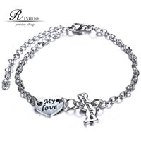 personalized gifts - RINHOO New Children Charm Bracelets Grandmother Gift hot sale by Personalized Initial Engraved Mother Family Bracelet freeshipping