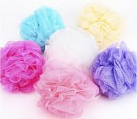 bath shower gel - Low Price Foreign Trade Hot Sale Mesh Sponge Bath Ball Sponge Bath Flower Milk Shower Gel Special Loofah