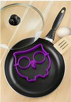 art trays - silicon egg ring Egg Mold Pancake Moulds Egg Tools set Owl Hoot Bird Skull cloud Fried Egg Art Kitchen gadget creative funny egg holder tray