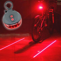 bicycle tail light led - 5LED Laser Bike Bicycle light Flash Mode Cycling Safety Rear Lamp waterproof Laser Tail Warning Lamp Flashing led laser
