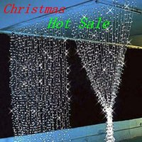 led christmas icicle lights - 3 m m leds curtain window icicle led string fairy lights christmas wedding halloween party outdoor tree decoration