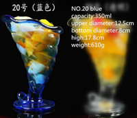Wholesale good quality Ice cream dessert cup transparent glass fruit juice beer wine cups hand free snack bowl fancy cold drink cup mugs