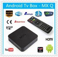 Wholesale MX MXQ TV Box Smart Android Mini PC Amlogic S805 Quad Core GB GB Kodi Fully Load Streaming Media Player Miracast