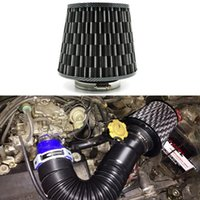 air intake accessories - 3 quot mm Universal Car Styling High Flow Cold Air Intake filter Stainless Steel Washable Reuseable Fuel Economy Auto Accessories