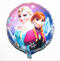Wholesale NEW Cartoon Frozen Anna Elsa Sets cmx45cm bubble hydrogen balloon balloons party decoration foil balloons