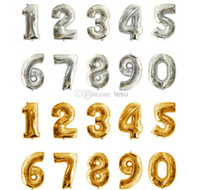 aluminium numbers - Number Foil Balloon Inch Balloon to number Balloon Wedding Party Decor