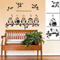 owl decor - 2015 New Arrivals Owl Birds Branch Removable Vinyl Kids Baby Home Decor Mural Wall Stickers Decal C177