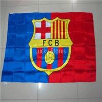 Wholesale FCB flag national flag x5 FT cm Hanging National flag Home Decoration flag banner