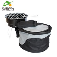 bbq charcoal bags - Outdoor portable barbecue bag household BBQ grill outdoor charcoal barbecue supplies