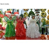 Wholesale A242 Friends Couples gift accessories Christmas Angel Christmas decoration red and green and white