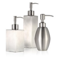 Wholesale High quality Stainless Steel Soap Liquid Dispenser for Bathroom Kitchen Countertop Bathroom Accessory H16558